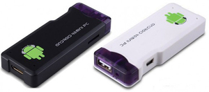 The Rikomagic MK802 is a small thumbdrive-sized computer with a Cortex A8 CPU.