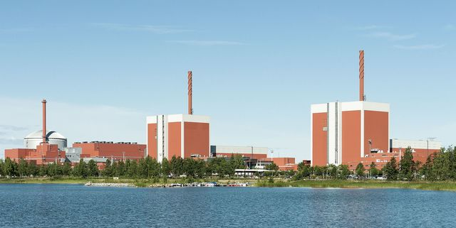 Olkiluoto nuclear power station (photo from Wikimedia by Hannu Huovila)